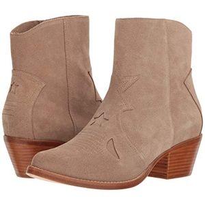 NEW Joie Tan Suede Perpetua Booties Size 37 (US 7)